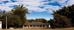 Imagem antiga da sede da fazenda.